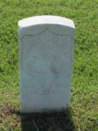 MCGHEE (VETERAN SAW), FRANK - Pulaski County, Arkansas | FRANK MCGHEE (VETERAN SAW) - Arkansas Gravestone Photos