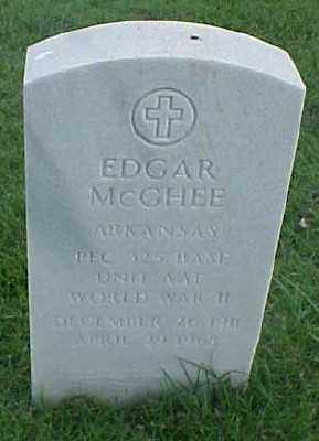 MCGHEE (VETERAN WWII), EDGAR - Pulaski County, Arkansas | EDGAR MCGHEE (VETERAN WWII) - Arkansas Gravestone Photos