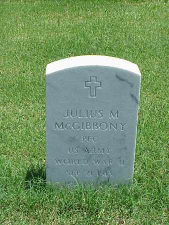MCGIBBONY (VETERAN WWII), JULIUS M - Pulaski County, Arkansas | JULIUS M MCGIBBONY (VETERAN WWII) - Arkansas Gravestone Photos