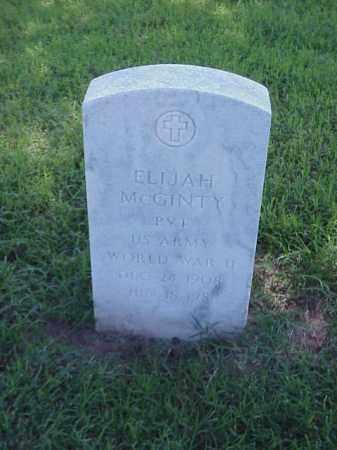 MCGINTY (VETERAN WWII), ELIJAH - Pulaski County, Arkansas   ELIJAH MCGINTY (VETERAN WWII) - Arkansas Gravestone Photos
