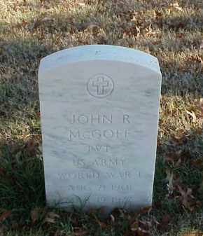 MCGOFF (VETERAN WWI), JOHN R - Pulaski County, Arkansas | JOHN R MCGOFF (VETERAN WWI) - Arkansas Gravestone Photos