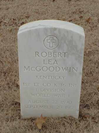 MCGOODWIN (VETERAN WWI), ROBERT LEA - Pulaski County, Arkansas | ROBERT LEA MCGOODWIN (VETERAN WWI) - Arkansas Gravestone Photos