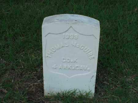 MCGUIRE (VETERAN UNION), THOMAS - Pulaski County, Arkansas | THOMAS MCGUIRE (VETERAN UNION) - Arkansas Gravestone Photos