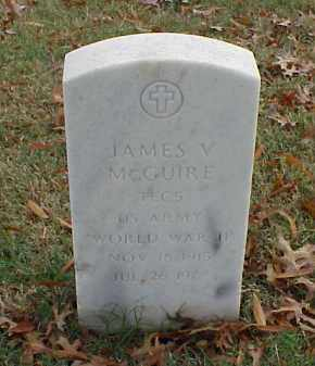 MCGUIRE (VETERAN WWII), JAMES V - Pulaski County, Arkansas | JAMES V MCGUIRE (VETERAN WWII) - Arkansas Gravestone Photos