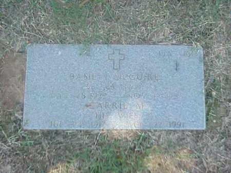 MCGUIRE (VETERAN WWII), BASIL V - Pulaski County, Arkansas | BASIL V MCGUIRE (VETERAN WWII) - Arkansas Gravestone Photos
