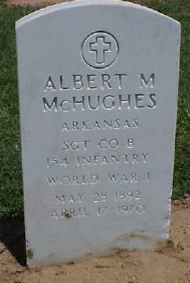 MCHUGHES (VETERAN WWI), ALBERT M - Pulaski County, Arkansas | ALBERT M MCHUGHES (VETERAN WWI) - Arkansas Gravestone Photos