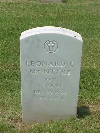 MCINTYRE (VETERAN WWI), LEONARD CARROLL - Pulaski County, Arkansas | LEONARD CARROLL MCINTYRE (VETERAN WWI) - Arkansas Gravestone Photos
