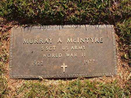 MCINTYRE (VETERAN WWII), MURRAY A - Pulaski County, Arkansas | MURRAY A MCINTYRE (VETERAN WWII) - Arkansas Gravestone Photos