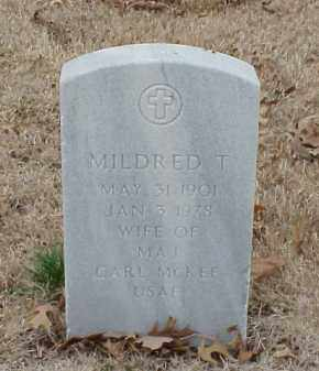 MCKEE, MILDRED T - Pulaski County, Arkansas | MILDRED T MCKEE - Arkansas Gravestone Photos