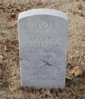 MCKEEVER (VETERAN WWII), MOSES J - Pulaski County, Arkansas   MOSES J MCKEEVER (VETERAN WWII) - Arkansas Gravestone Photos