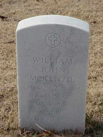 MCKENZIE (VETERAN WWI), WILLIAM JOHN - Pulaski County, Arkansas | WILLIAM JOHN MCKENZIE (VETERAN WWI) - Arkansas Gravestone Photos