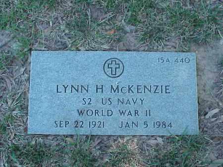 MCKENZIE (VETERAN WWII), LYNN H - Pulaski County, Arkansas | LYNN H MCKENZIE (VETERAN WWII) - Arkansas Gravestone Photos