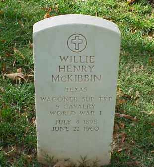 MCKIBBIN (VETERAN WWI), WILLIE HENRY - Pulaski County, Arkansas | WILLIE HENRY MCKIBBIN (VETERAN WWI) - Arkansas Gravestone Photos