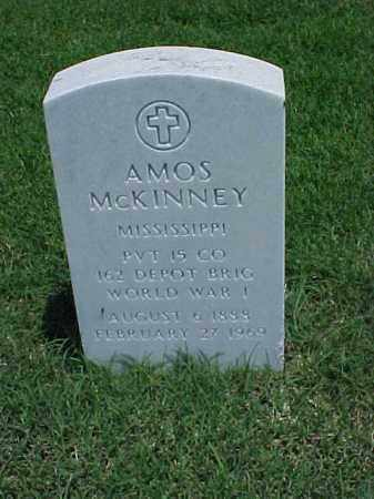 MCKINNEY (VETERAN WWI), AMOS - Pulaski County, Arkansas | AMOS MCKINNEY (VETERAN WWI) - Arkansas Gravestone Photos