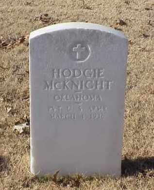MCKNIGHT (VETERAN), HODGIE - Pulaski County, Arkansas | HODGIE MCKNIGHT (VETERAN) - Arkansas Gravestone Photos