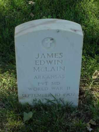 MCLAIN (VETERAN WWII), JAMES EDWIN - Pulaski County, Arkansas | JAMES EDWIN MCLAIN (VETERAN WWII) - Arkansas Gravestone Photos