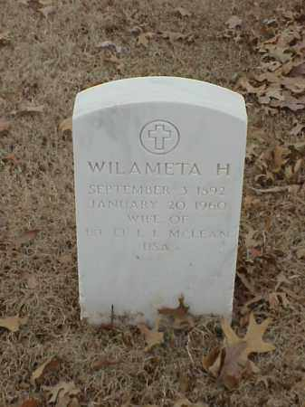 MCLEAN, WILAMETA H - Pulaski County, Arkansas | WILAMETA H MCLEAN - Arkansas Gravestone Photos