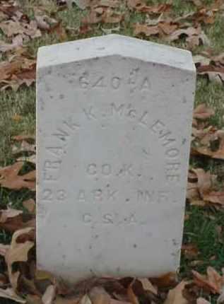 MCLEMORE (VETERAN CSA), FRANK K - Pulaski County, Arkansas | FRANK K MCLEMORE (VETERAN CSA) - Arkansas Gravestone Photos