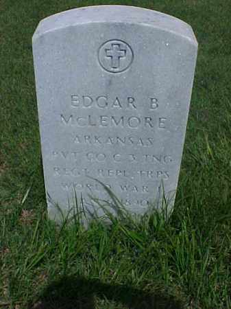 MCLEMORE (VETERAN WWI), EDGAR B - Pulaski County, Arkansas | EDGAR B MCLEMORE (VETERAN WWI) - Arkansas Gravestone Photos