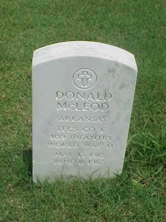 MCLEOD (VETERAN WWII), DONALD - Pulaski County, Arkansas | DONALD MCLEOD (VETERAN WWII) - Arkansas Gravestone Photos