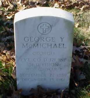 MCMICHAEL (VETERAN WWI), GEORGE Y - Pulaski County, Arkansas | GEORGE Y MCMICHAEL (VETERAN WWI) - Arkansas Gravestone Photos
