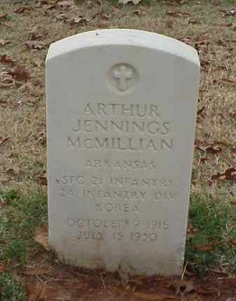 MCMILLIAN (VETERAN KOR), ARTHUR JENNINGS - Pulaski County, Arkansas | ARTHUR JENNINGS MCMILLIAN (VETERAN KOR) - Arkansas Gravestone Photos
