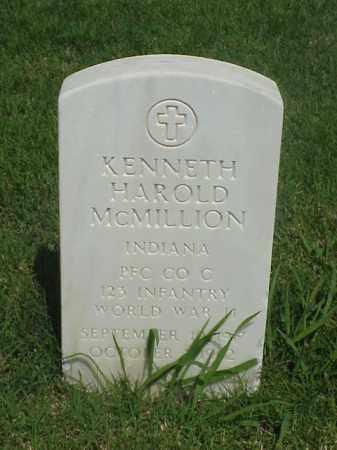 MCMILLION (VETERAN WWII), KENNETH HAROLD - Pulaski County, Arkansas | KENNETH HAROLD MCMILLION (VETERAN WWII) - Arkansas Gravestone Photos