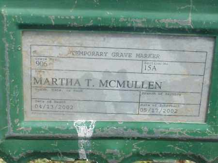 MCMULLEN, MARTHA T - Pulaski County, Arkansas | MARTHA T MCMULLEN - Arkansas Gravestone Photos