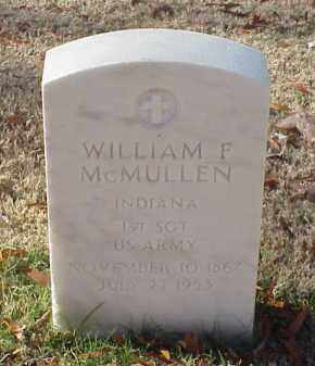 MCMULLEN (VETERAN SAW), WILLIAM F - Pulaski County, Arkansas | WILLIAM F MCMULLEN (VETERAN SAW) - Arkansas Gravestone Photos