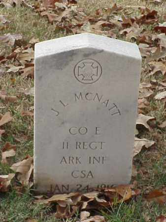 MCNATT (VETERAN CSA), J L - Pulaski County, Arkansas | J L MCNATT (VETERAN CSA) - Arkansas Gravestone Photos