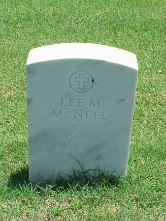 MCNEEL (VETERAN WWI), LEE M - Pulaski County, Arkansas | LEE M MCNEEL (VETERAN WWI) - Arkansas Gravestone Photos