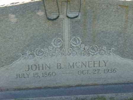 MCNEELY, JOHN B. - Pulaski County, Arkansas | JOHN B. MCNEELY - Arkansas Gravestone Photos