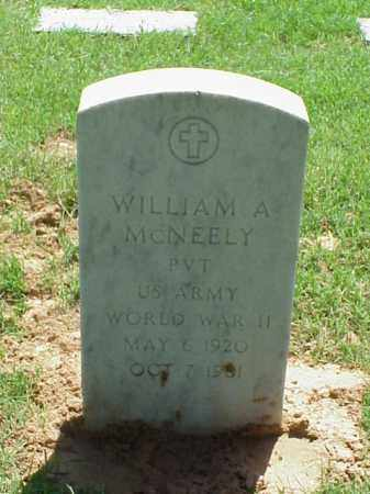 MCNEELY (VETERAN WWII), WILLIAM A - Pulaski County, Arkansas | WILLIAM A MCNEELY (VETERAN WWII) - Arkansas Gravestone Photos