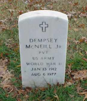 MCNEILL, JR (VETERAN WWII), DEMPSEY - Pulaski County, Arkansas | DEMPSEY MCNEILL, JR (VETERAN WWII) - Arkansas Gravestone Photos