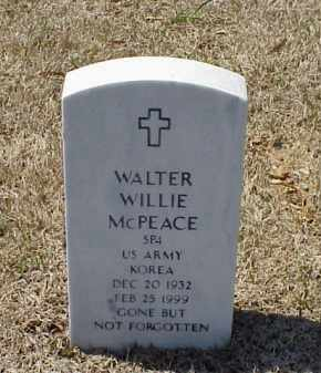 MCPEACE (VETERAN KOR), WALTER WILLIE - Pulaski County, Arkansas | WALTER WILLIE MCPEACE (VETERAN KOR) - Arkansas Gravestone Photos