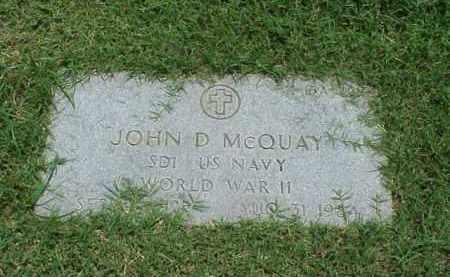 MCQUAY (VETERAN WWII), JOHN D - Pulaski County, Arkansas | JOHN D MCQUAY (VETERAN WWII) - Arkansas Gravestone Photos