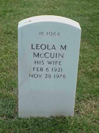 MCUIN, LEOLA M - Pulaski County, Arkansas | LEOLA M MCUIN - Arkansas Gravestone Photos