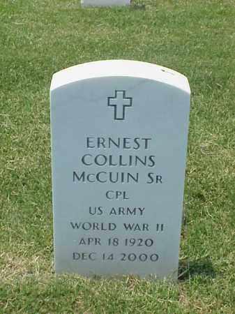 MCUIN, SR (VETERAN WWII), ERNEST COLLINS - Pulaski County, Arkansas | ERNEST COLLINS MCUIN, SR (VETERAN WWII) - Arkansas Gravestone Photos