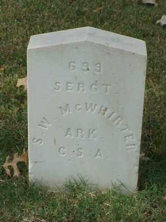 MCWHIRTER (VETERAN CSA), S W - Pulaski County, Arkansas | S W MCWHIRTER (VETERAN CSA) - Arkansas Gravestone Photos