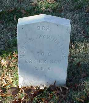 MCWILLIAMS (VETERAN CSA), MARTIN - Pulaski County, Arkansas | MARTIN MCWILLIAMS (VETERAN CSA) - Arkansas Gravestone Photos