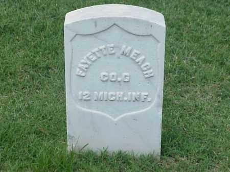 MEACH (VETERAN UNION), FAYETTE - Pulaski County, Arkansas | FAYETTE MEACH (VETERAN UNION) - Arkansas Gravestone Photos