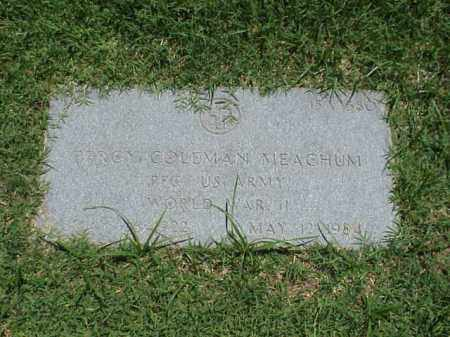 MEACHUM (VETERAN WWII), PERCY COLEMAN - Pulaski County, Arkansas | PERCY COLEMAN MEACHUM (VETERAN WWII) - Arkansas Gravestone Photos