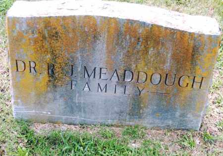 MEADDOUGH, R. J. - Pulaski County, Arkansas | R. J. MEADDOUGH - Arkansas Gravestone Photos