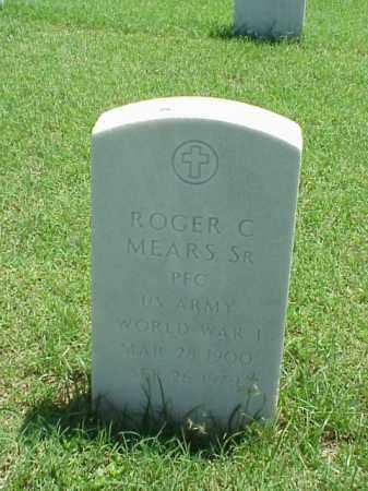 MEARS, SR (VETERAN WWI), ROGER C - Pulaski County, Arkansas | ROGER C MEARS, SR (VETERAN WWI) - Arkansas Gravestone Photos