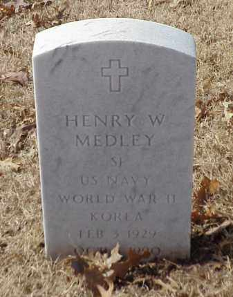 MEDLEY (VETERAN 2 WARS), HENRY W - Pulaski County, Arkansas | HENRY W MEDLEY (VETERAN 2 WARS) - Arkansas Gravestone Photos