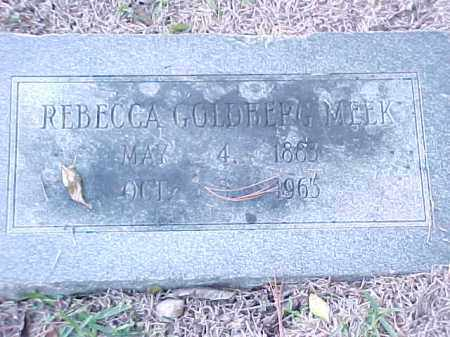 GOLDBERG MEEK, REBECCA - Pulaski County, Arkansas | REBECCA GOLDBERG MEEK - Arkansas Gravestone Photos
