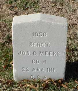 MEEKS (VETERAN CSA), JOSEPH C - Pulaski County, Arkansas | JOSEPH C MEEKS (VETERAN CSA) - Arkansas Gravestone Photos