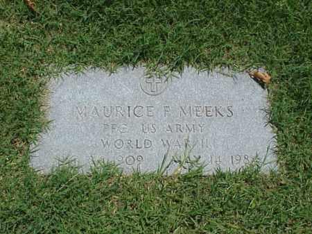 MEEKS VETERAN WWII), MAURICE F - Pulaski County, Arkansas | MAURICE F MEEKS VETERAN WWII) - Arkansas Gravestone Photos