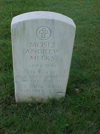 MEEKS (VETERAN WWII), MOSES ANDREW - Pulaski County, Arkansas | MOSES ANDREW MEEKS (VETERAN WWII) - Arkansas Gravestone Photos