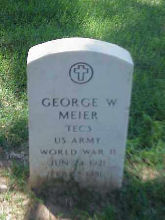 MEIER (VETERAN WWII), GEORGE W - Pulaski County, Arkansas | GEORGE W MEIER (VETERAN WWII) - Arkansas Gravestone Photos